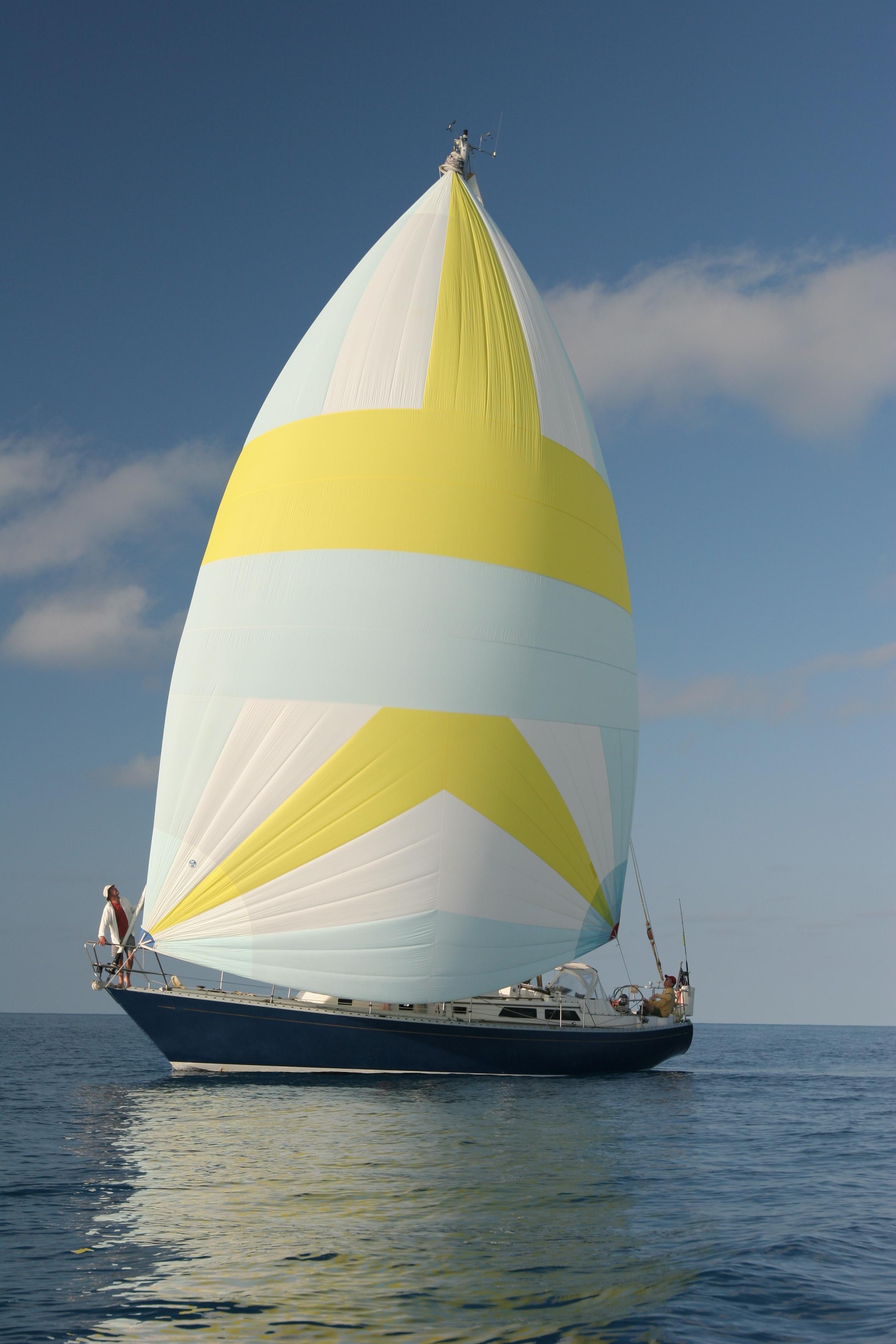 Tioga, an Alden 44, under sail off Bermuda