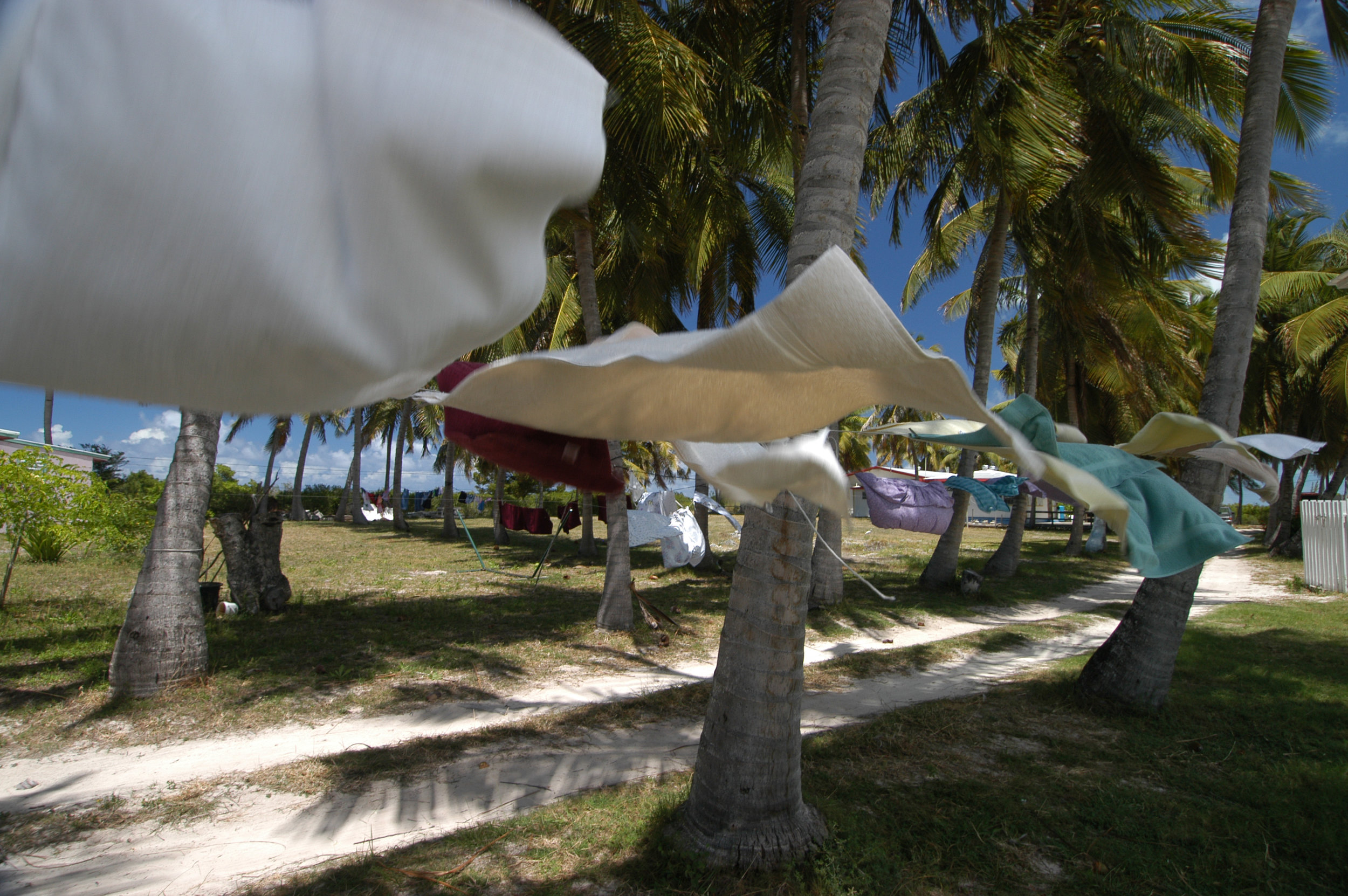 Laundry in the breeze on Anegada Island