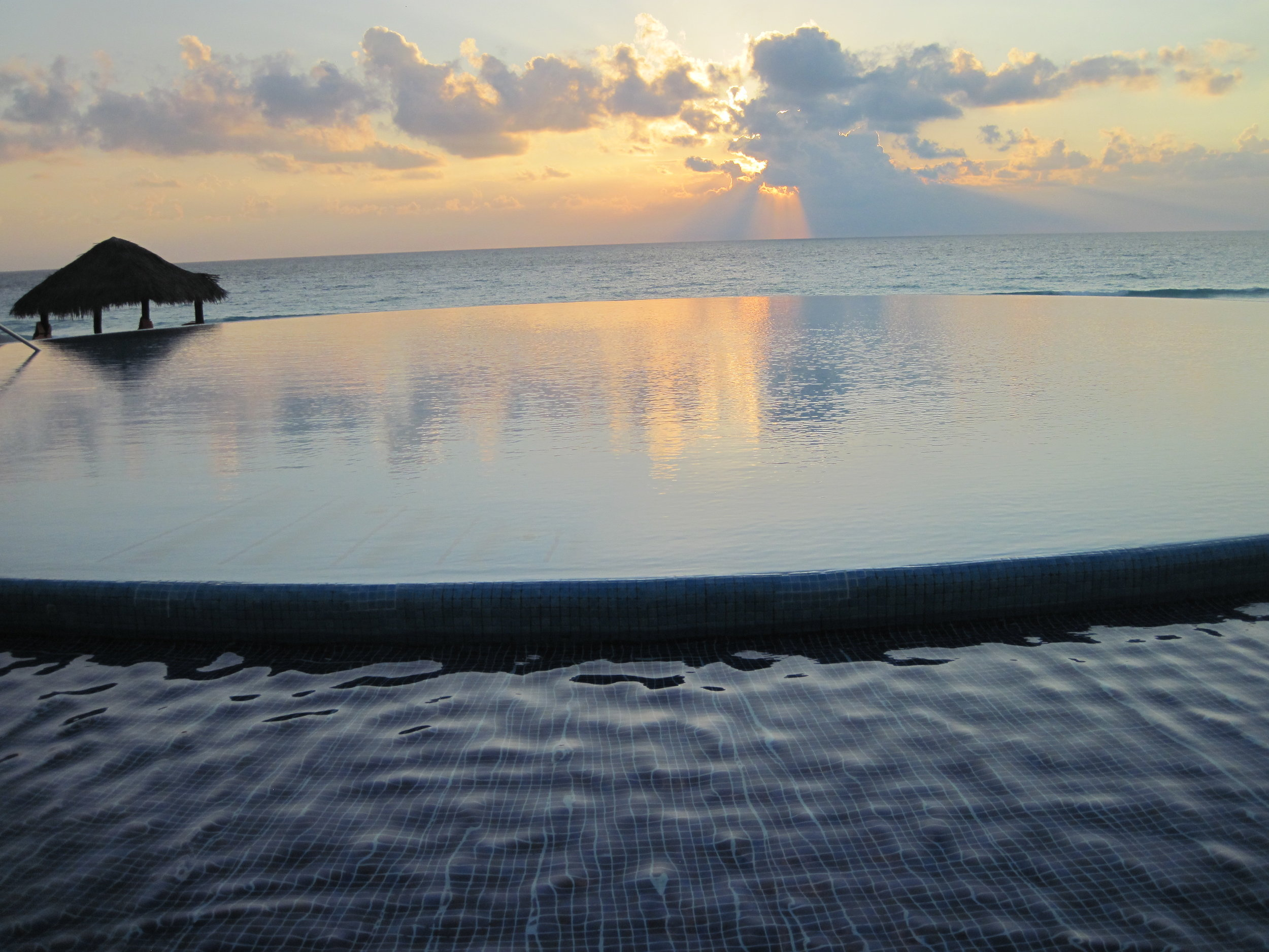 Infinity pool at Live Aqua resort in Cancun