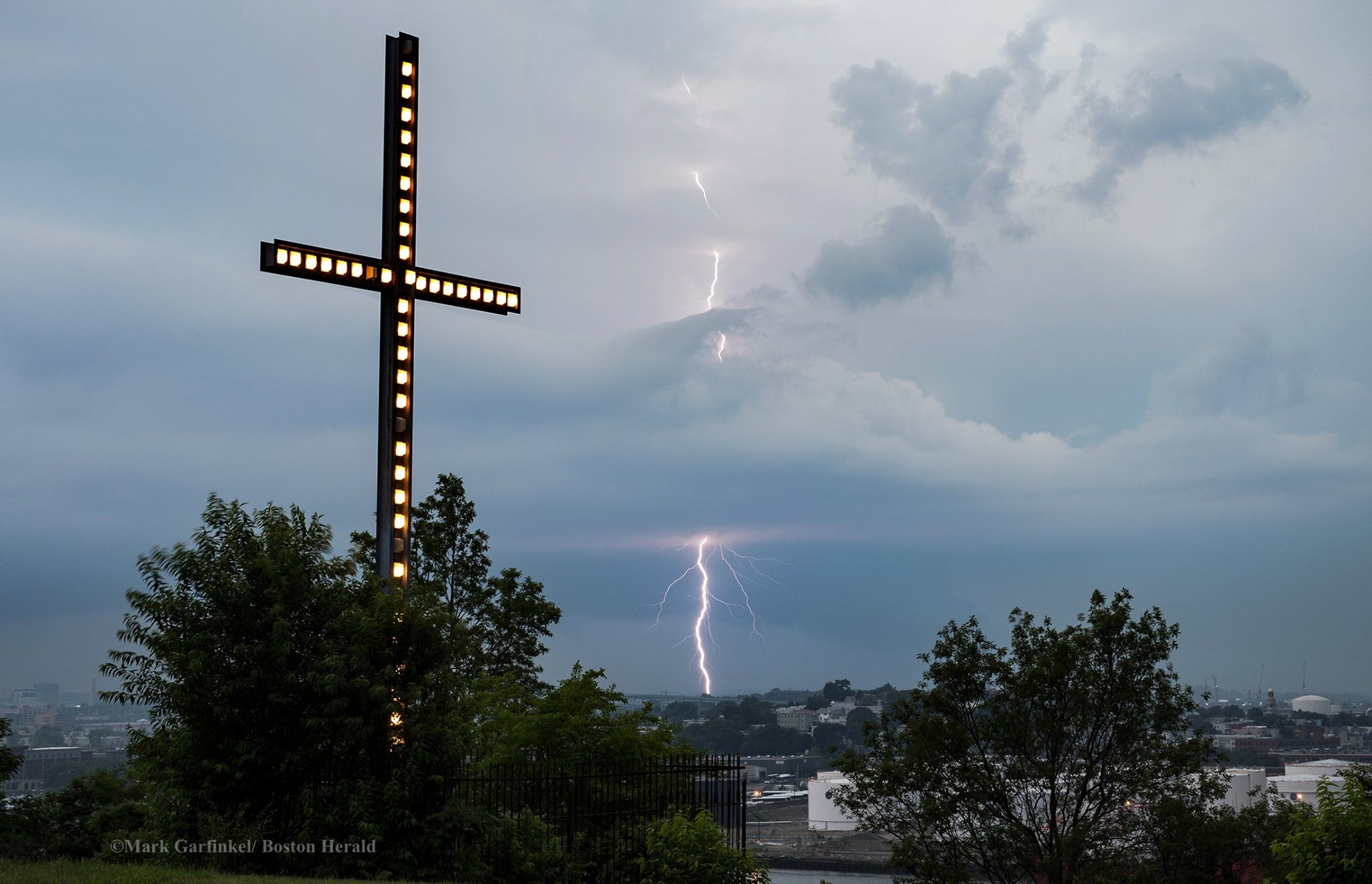 What happened under the cross?