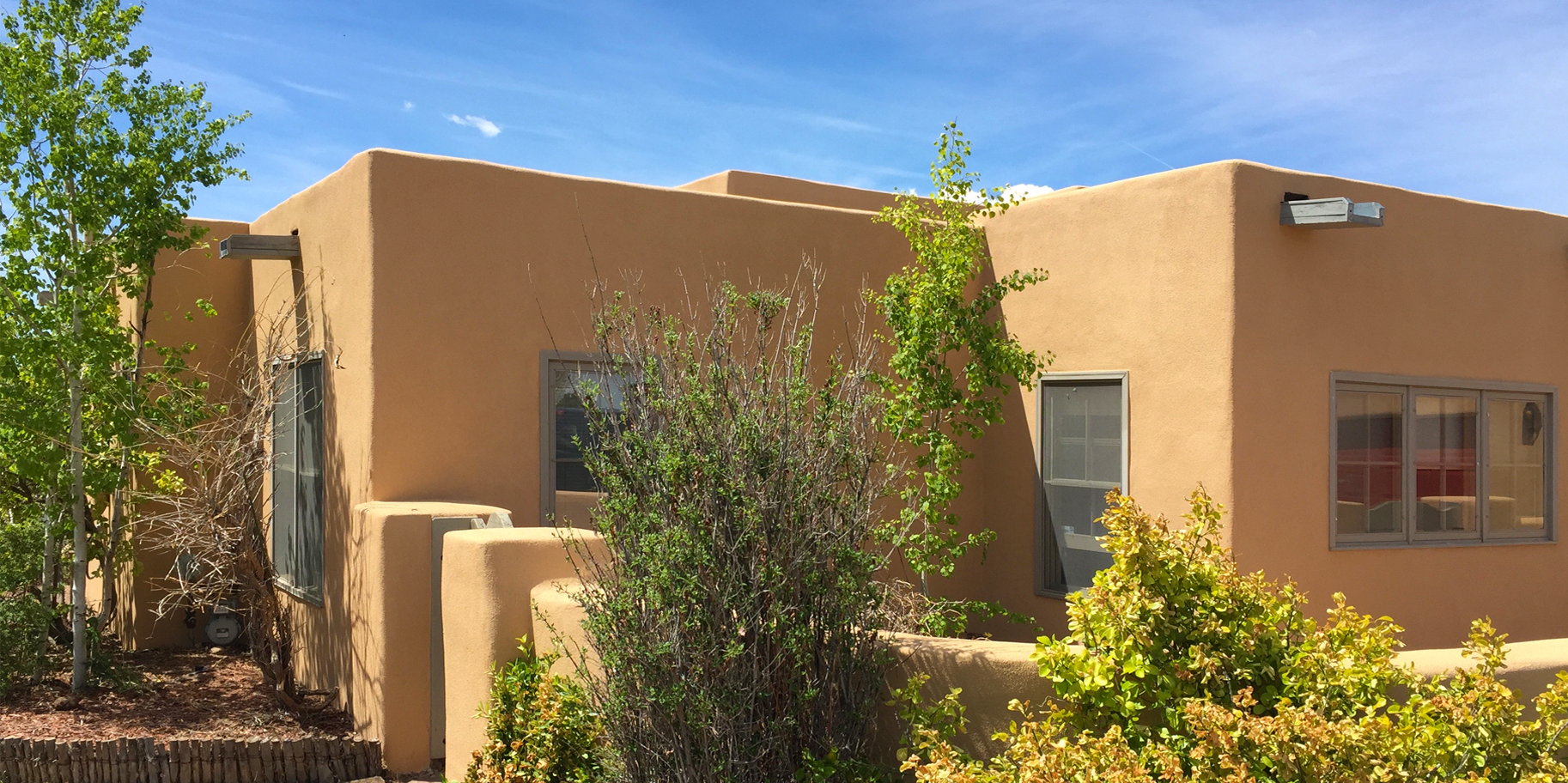 New Stucco for a Home in Santa Fe