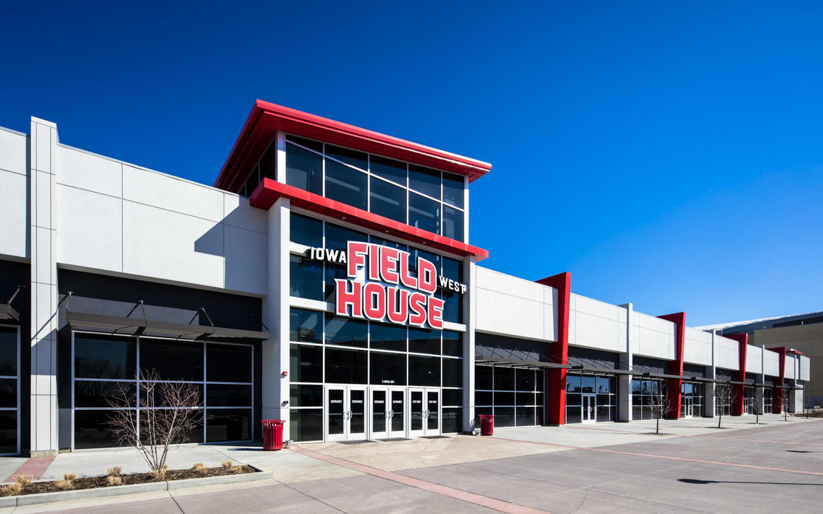 Located in Council Bluffs, the  Iowa West Field House  was opened in January 2017 and is operated by Omaha Sports Academy. Not far from the Mid-America Center the facility contains 8 basketball courts and 12 volleyball courts totaling just over 49,600 square feet of space. Rental services are available weekdays or weekends to match your event or game dates.