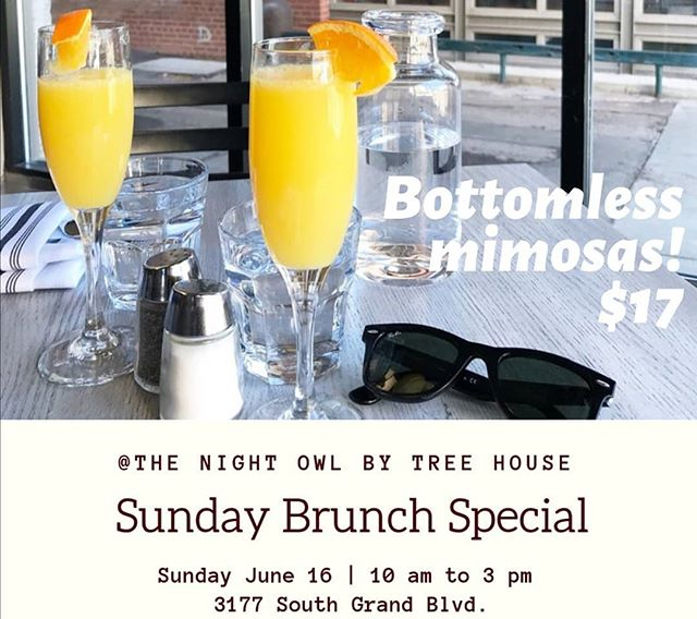 This Sunday we are back at it with brunch and unlimited mimosas!