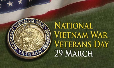 Today is National Vietnam War Veterans Day. Today, we honor and remember those who served for this country. Thank you to all of our veterans, we salute you!