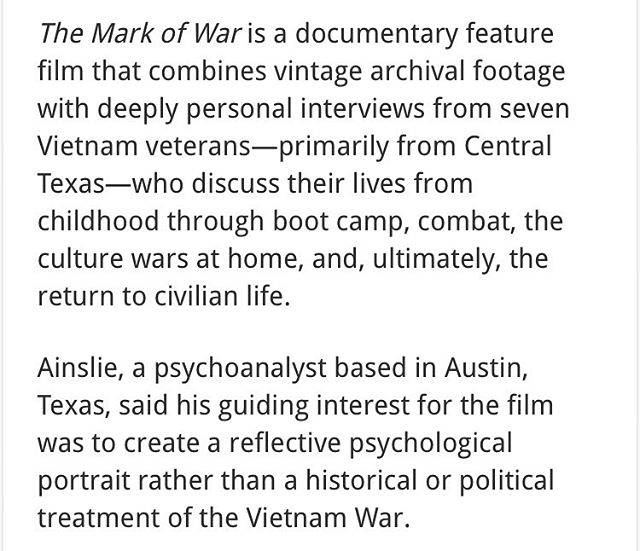 What is The Mark of War? Read this to know more.  Source: https://elpasoheraldpost.com/humanities-texas-hosts-free-public-screening-of-the-mark-of-war-tuesday-evening/
