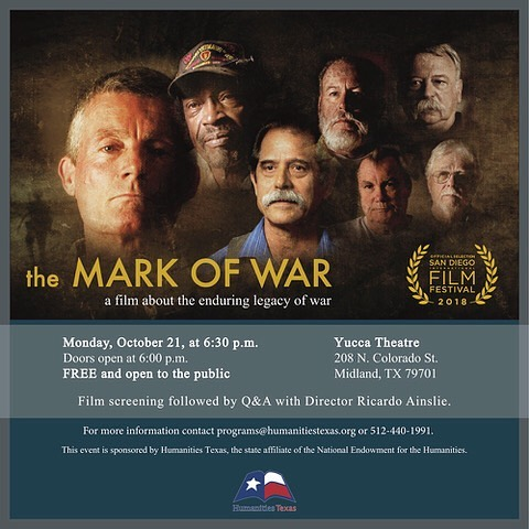 MIDLAND, TX - UPCOMING SCREENING! It's free and open to the public. Doors will open at 6, screening will begin at 6:30, and screening will be followed by a Q&A session with Director Ricardo Ainslie. Hope to see you there!
