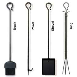Pilgrim Black Iron Hearth Tools