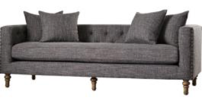 Grey Tufted Plaza Sofa