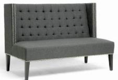 Pewter Tufted Loveseat