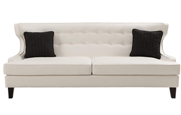 White Leather Metropolitan Sofa