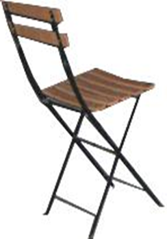 Wood and Iron Bistro Chair