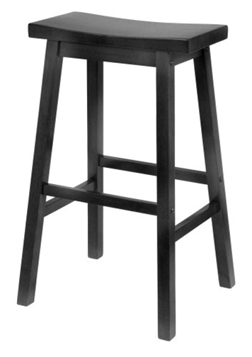 Black Saddle Stool