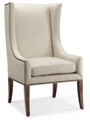 Linen Wingback Accent Chair