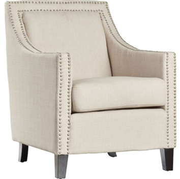 Ivory Webster Nailhead chair