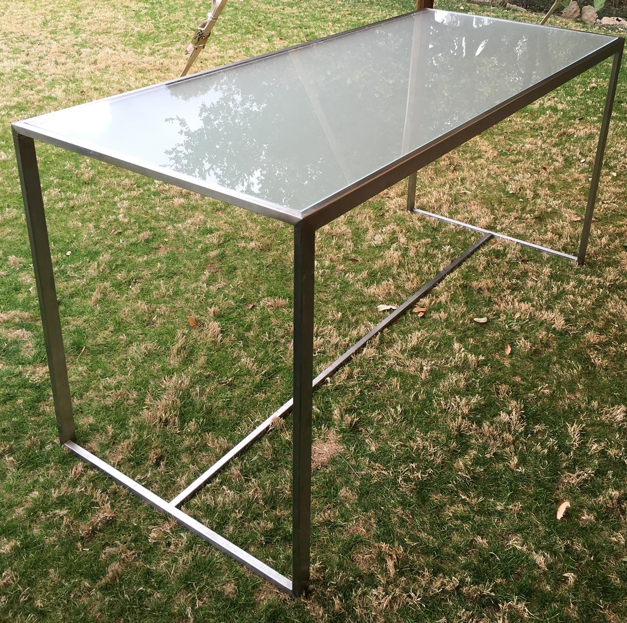 Chrome and Glass Food Table