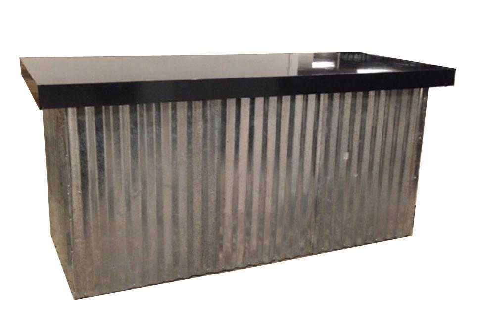 Corrugated Metal Food Table