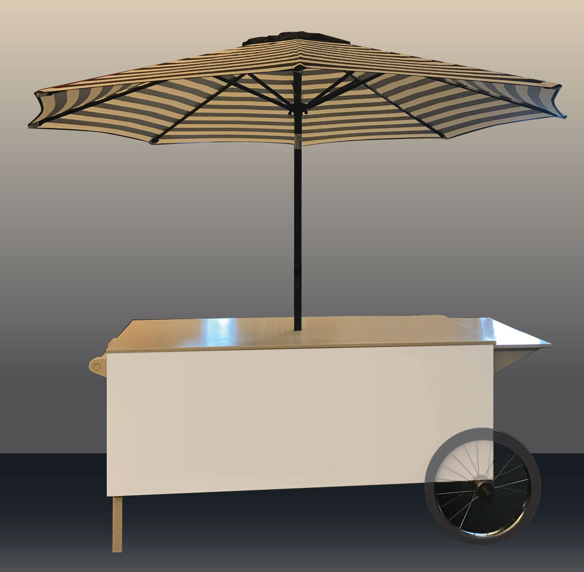 Food Station Cart with Umbrella Option
