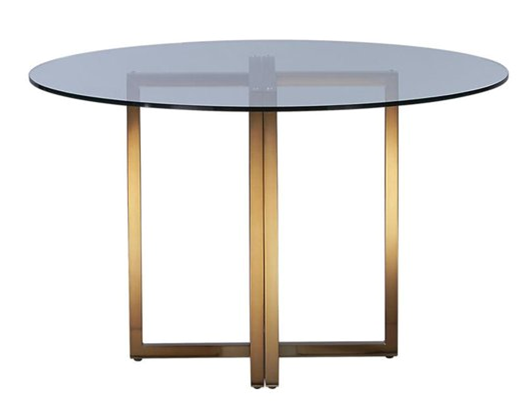 Brass and Glass Dining Table