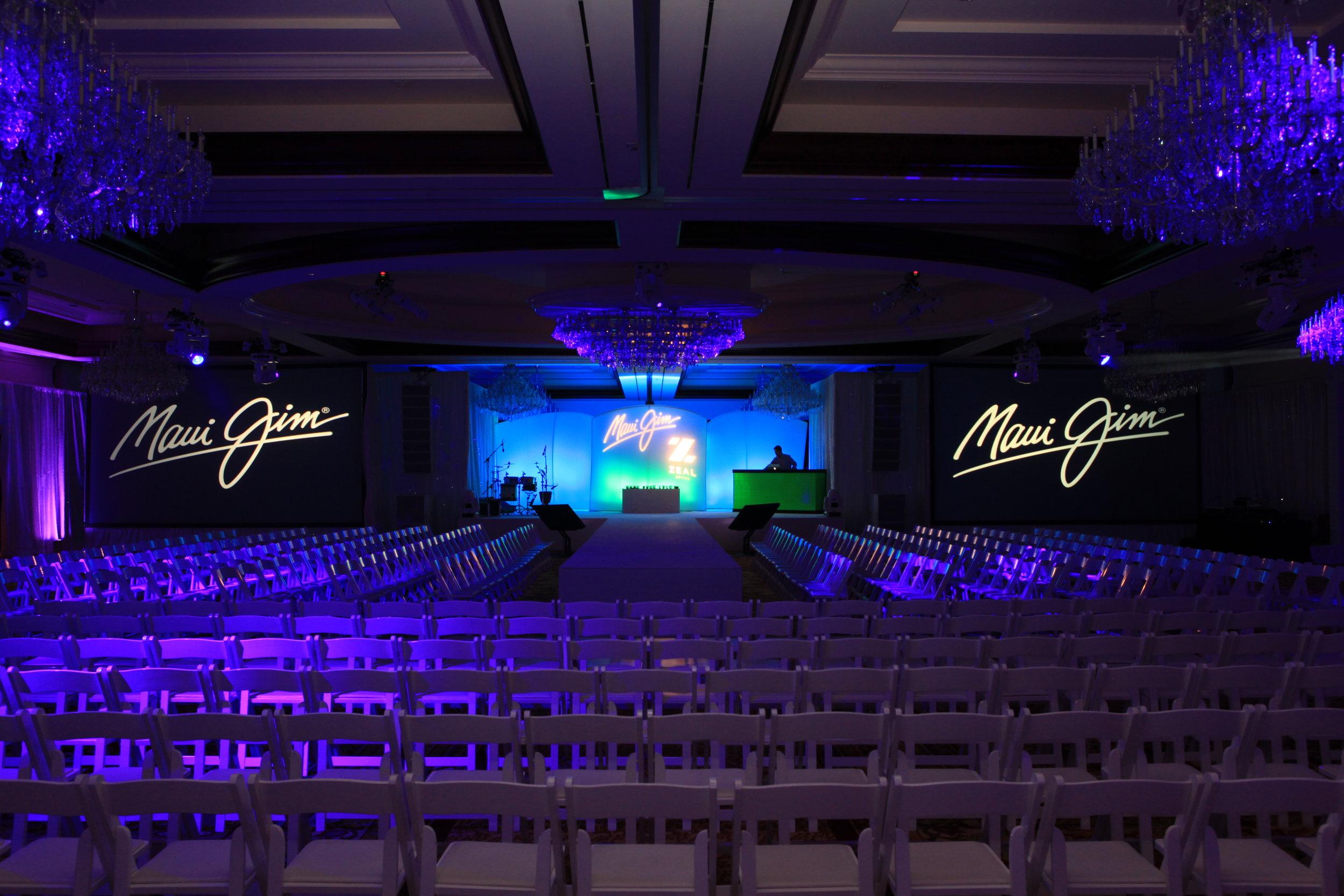 Stage Lighting, Custom Corporate Gobos, Custom Projection