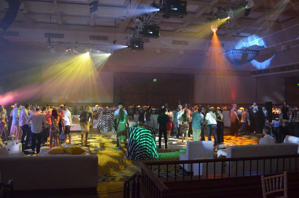 Dance Floor Illumination with Intelligent Lighting