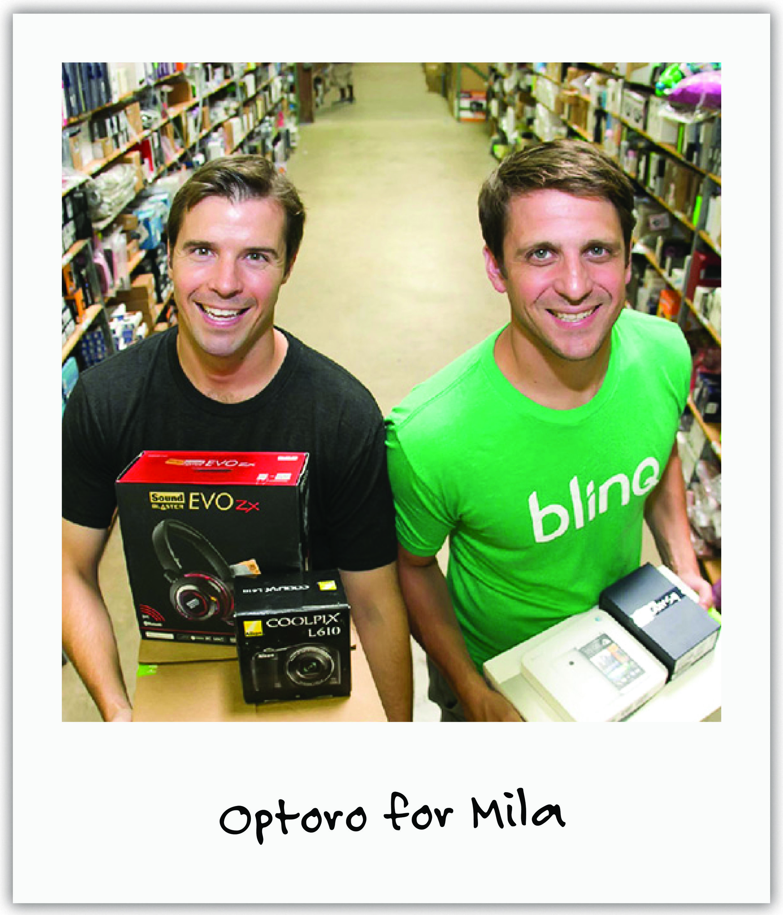 Optoro founders, Mila's uncle Adam and friend Tobin, raced along side us to help us get traction by graciously sponsoring our DC gala and donating items to our numerous auctions.
