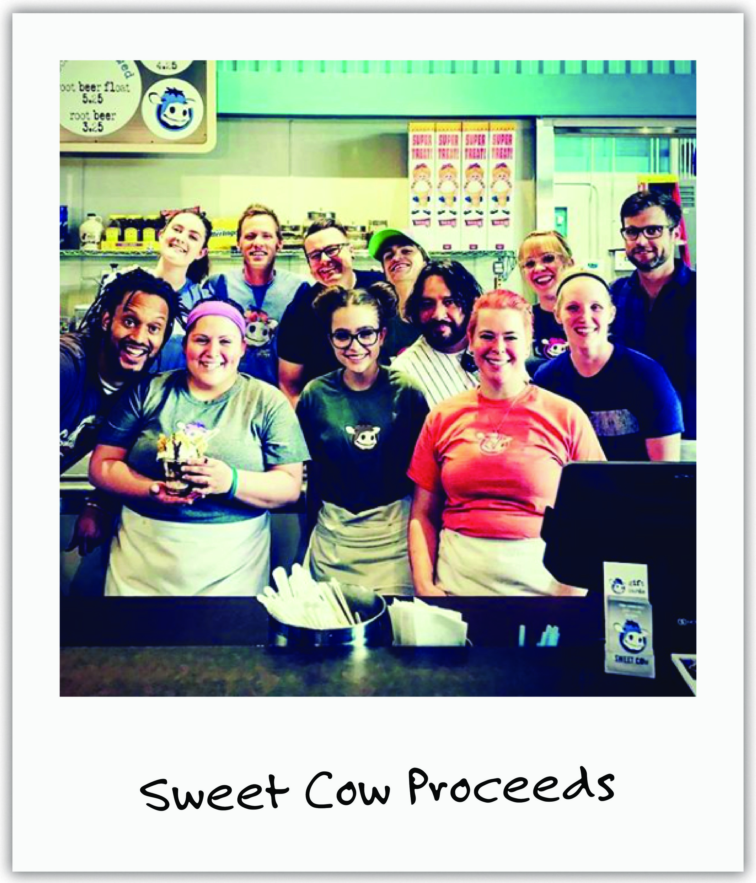 Local Sweet Cow ice cream chain blasted Mila's story out to their followers and gave proceeds from tables at a popular festival.