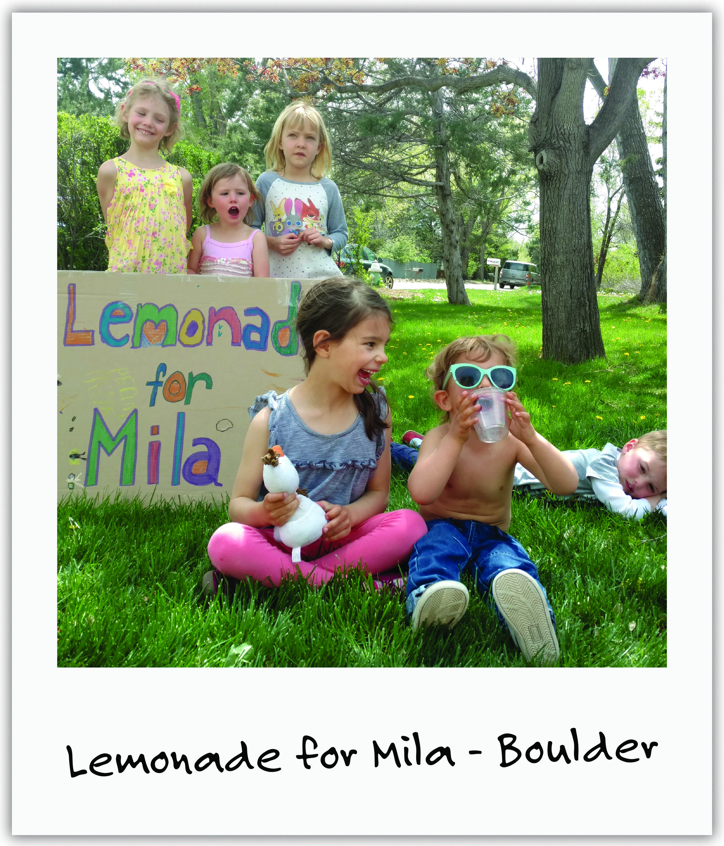 Old friends, Penny and Tilda, hand-made fresh lemonade and cookies and invited everyone they knew for their friend Mila!