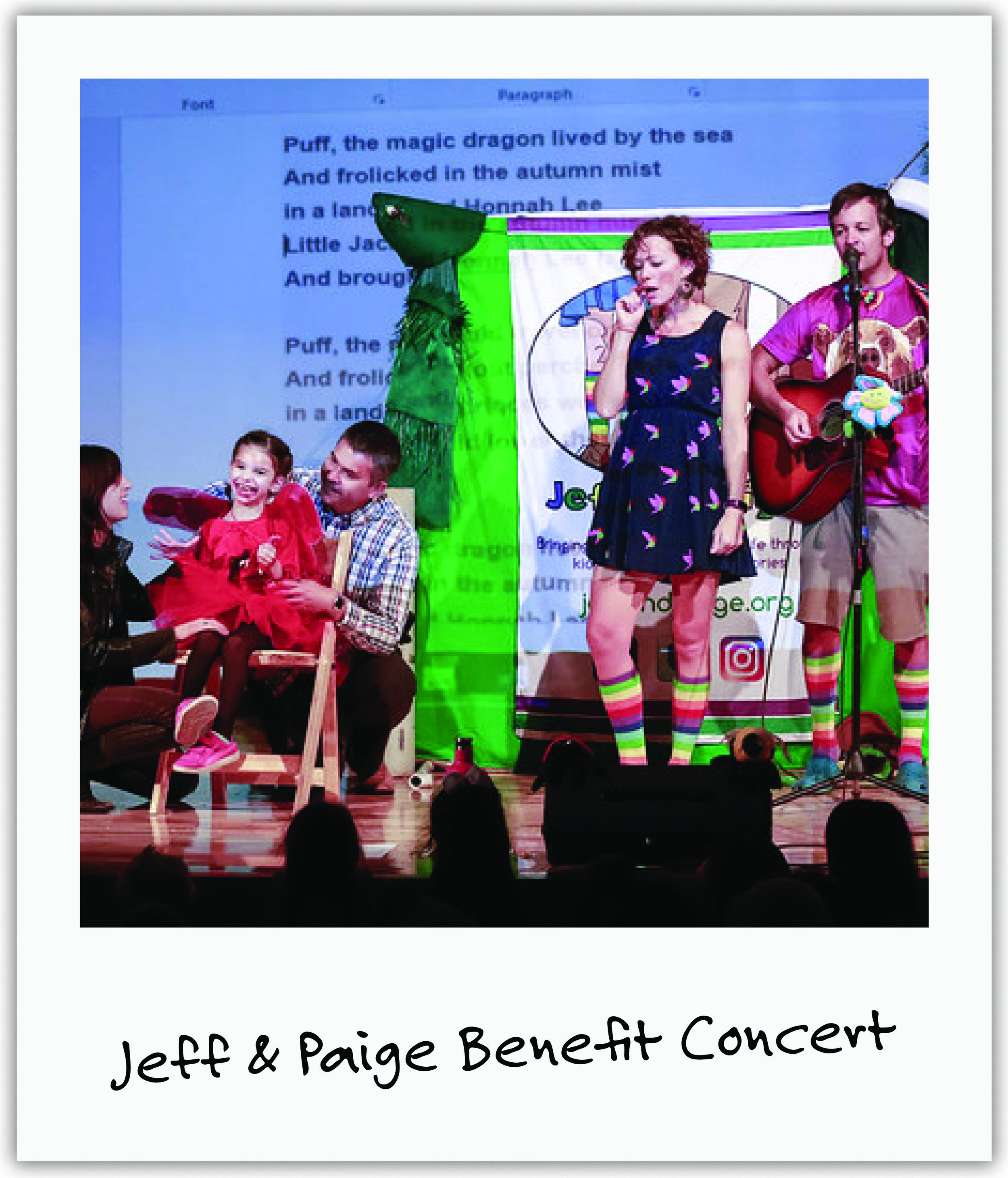 Local celebrity musicians Jeff & Paige have fought hard for Mila by sharing her story at events and online to fans, and hosting a large family concert benefiting us!