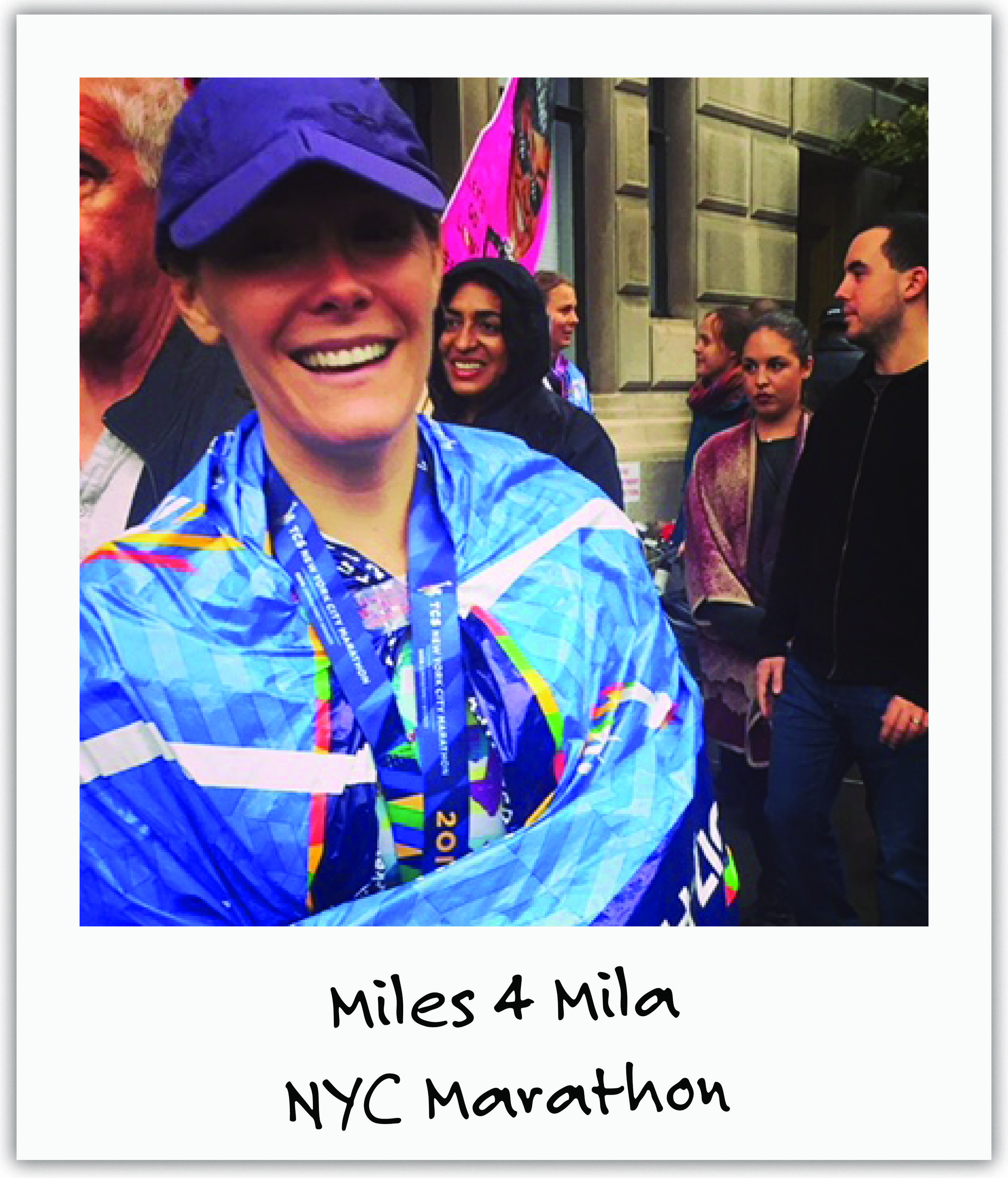 New friend Christina heard about Mila and ran the NYC Marathon on Nov. 5th raising thousands, in honor of Mila's 7th Birthday.