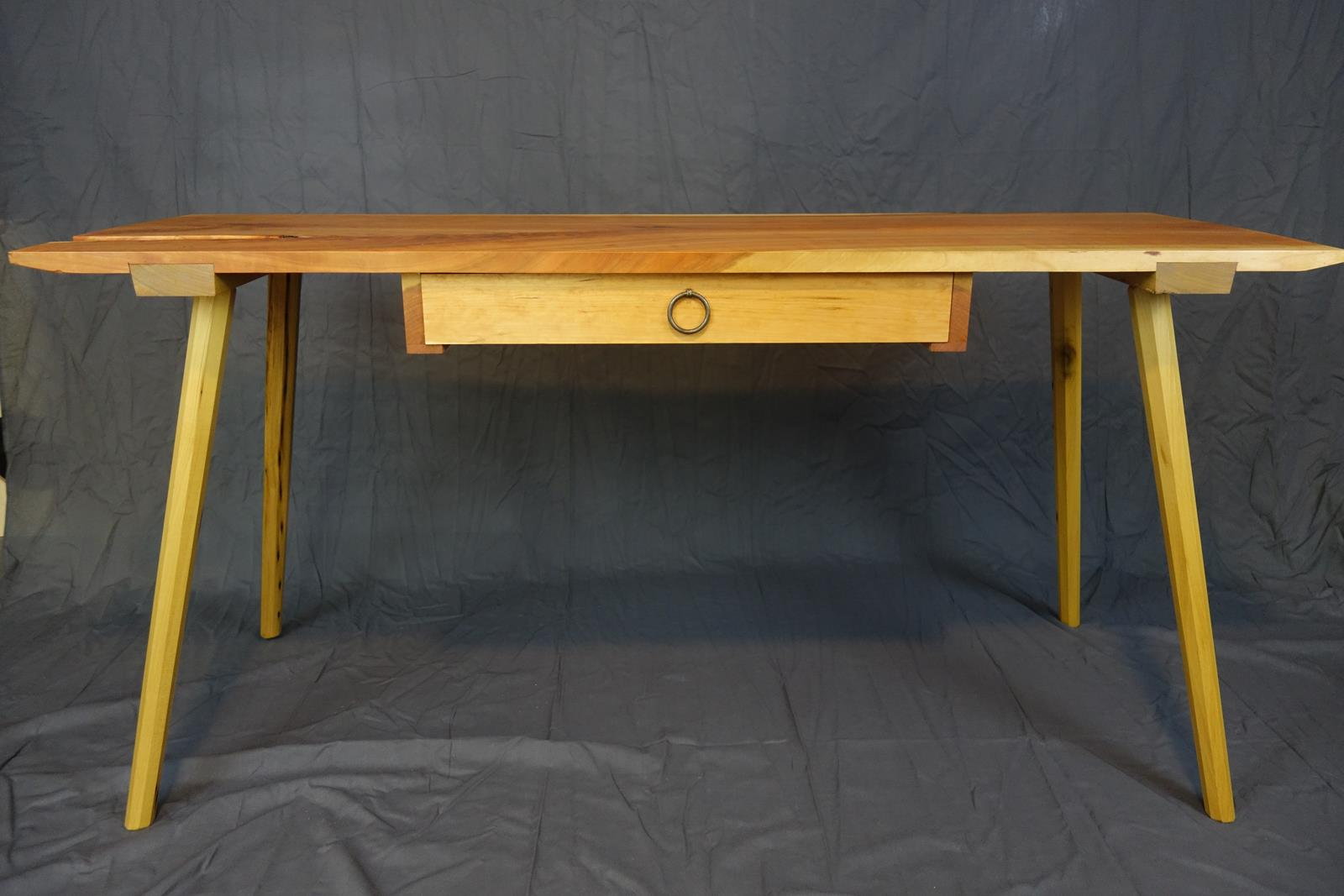 Cherry dining table with drawer