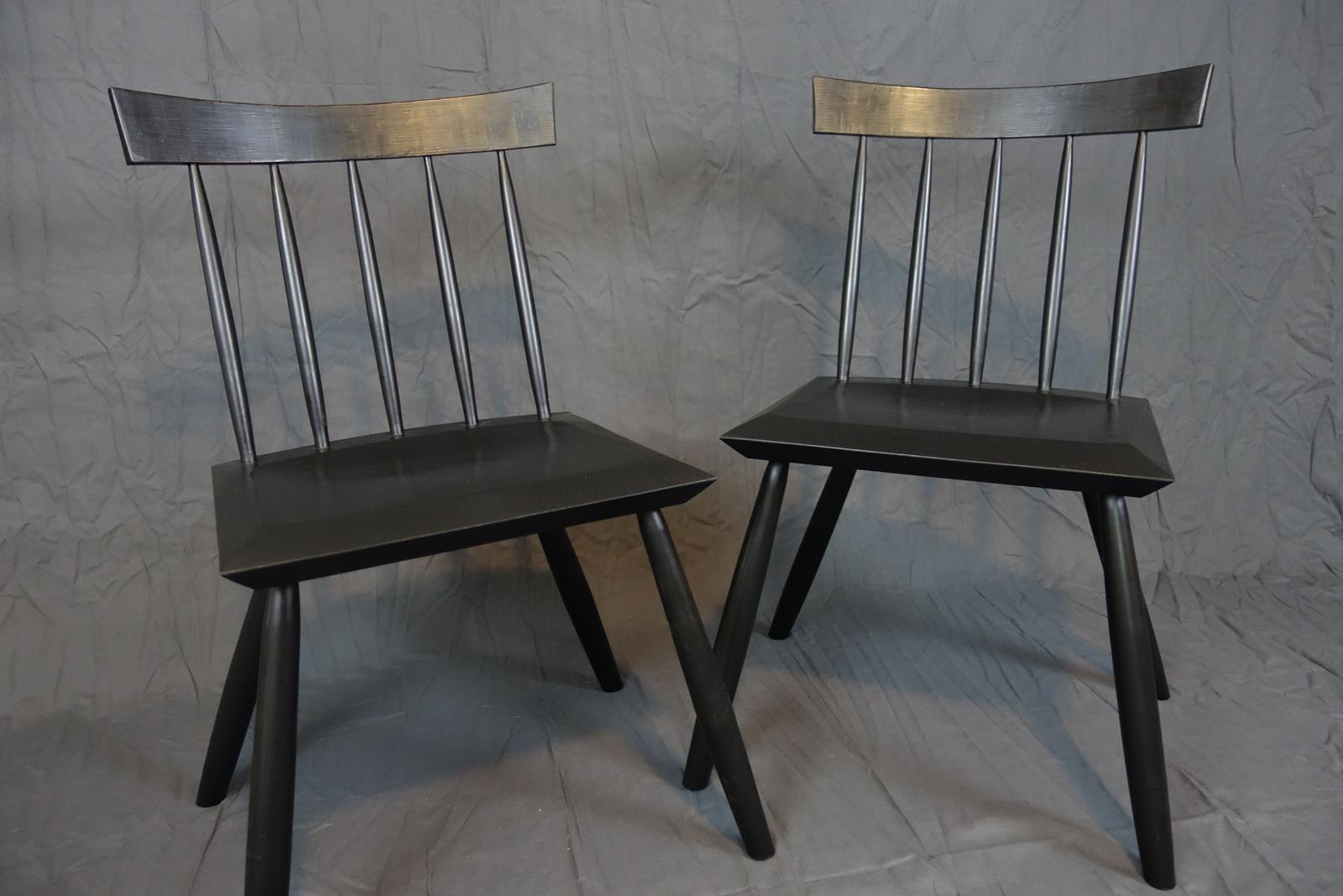 Black modern windsor side chair