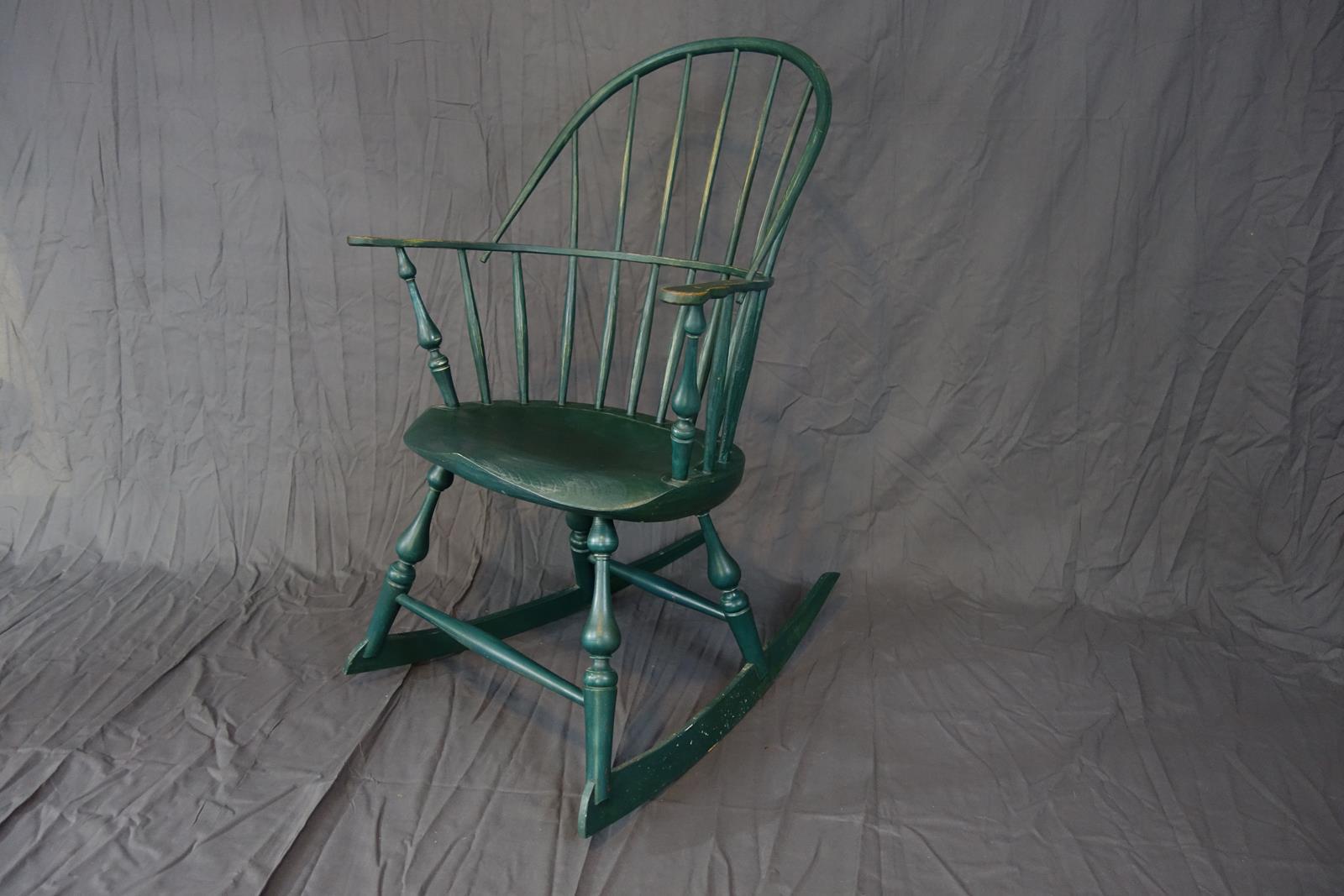 Sack back windsor rocking chair