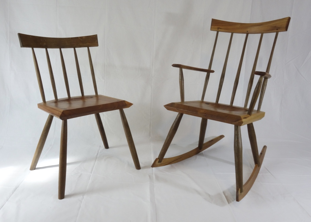 Modern windsor side chair and rocker