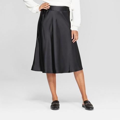 my satin skirt in black