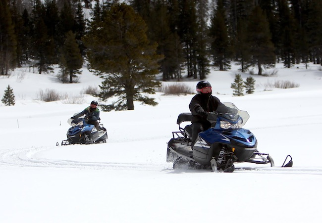 Snowmobiling Hope Valley Lake Tahoe