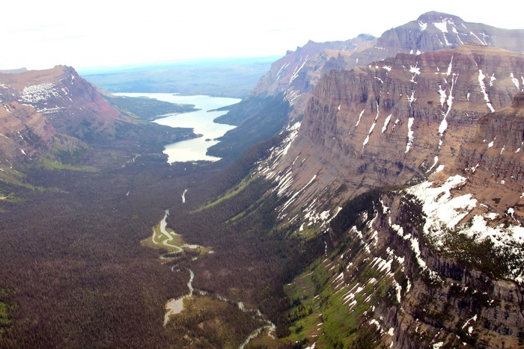 Glacier National Park from helicopter