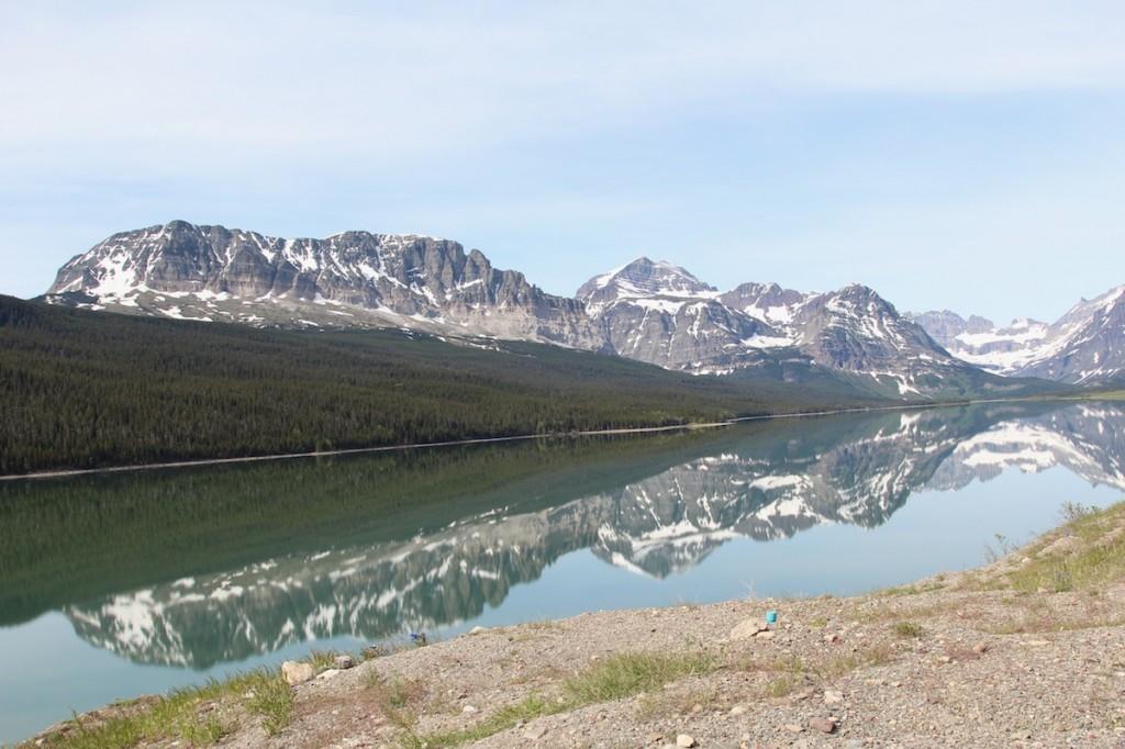 The view heading toward Many Glacier