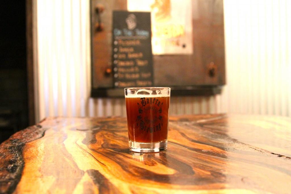 Beer sample at Bayern Brewing in Missoula, Montana