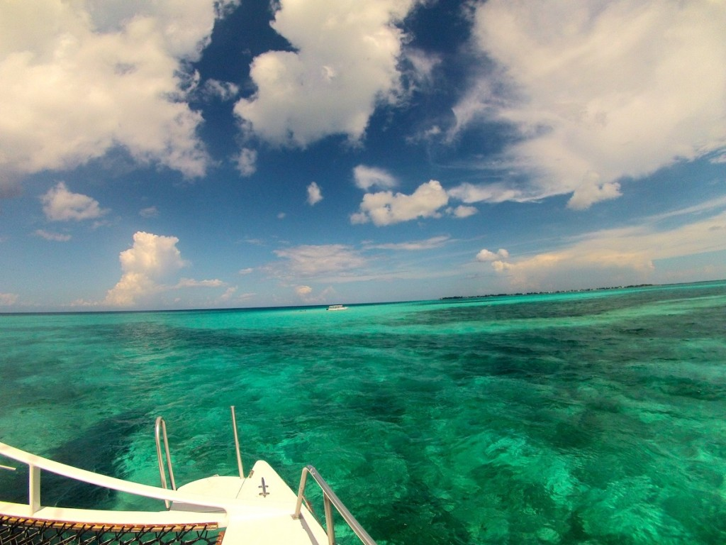 Cayman Islands Sailing. Look at that water color!