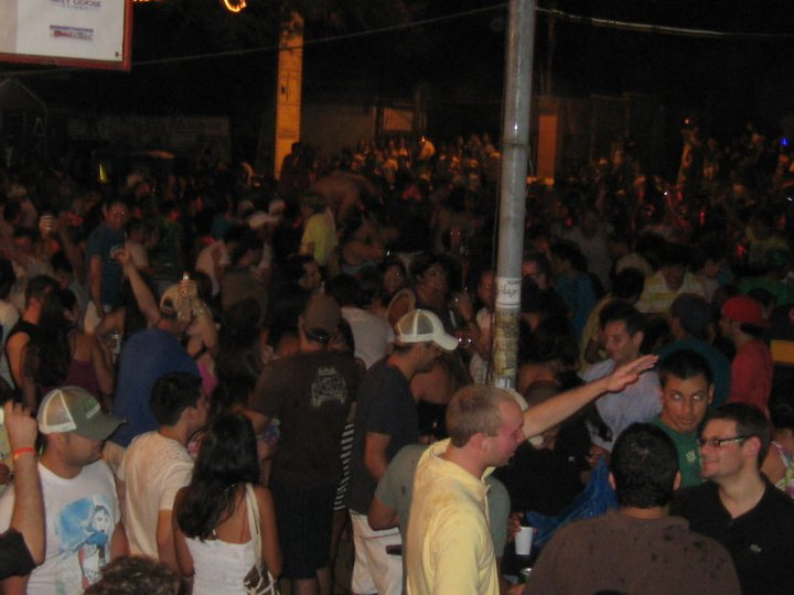 The Block Party in Front of Coconutz Bar in Coco