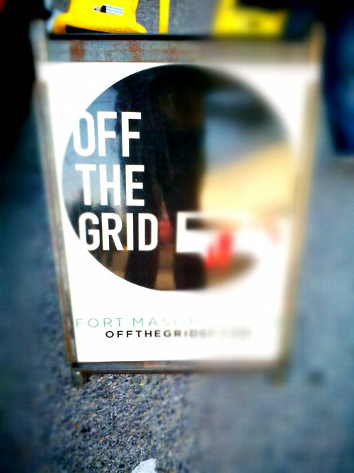 Off the grid sign Reflection
