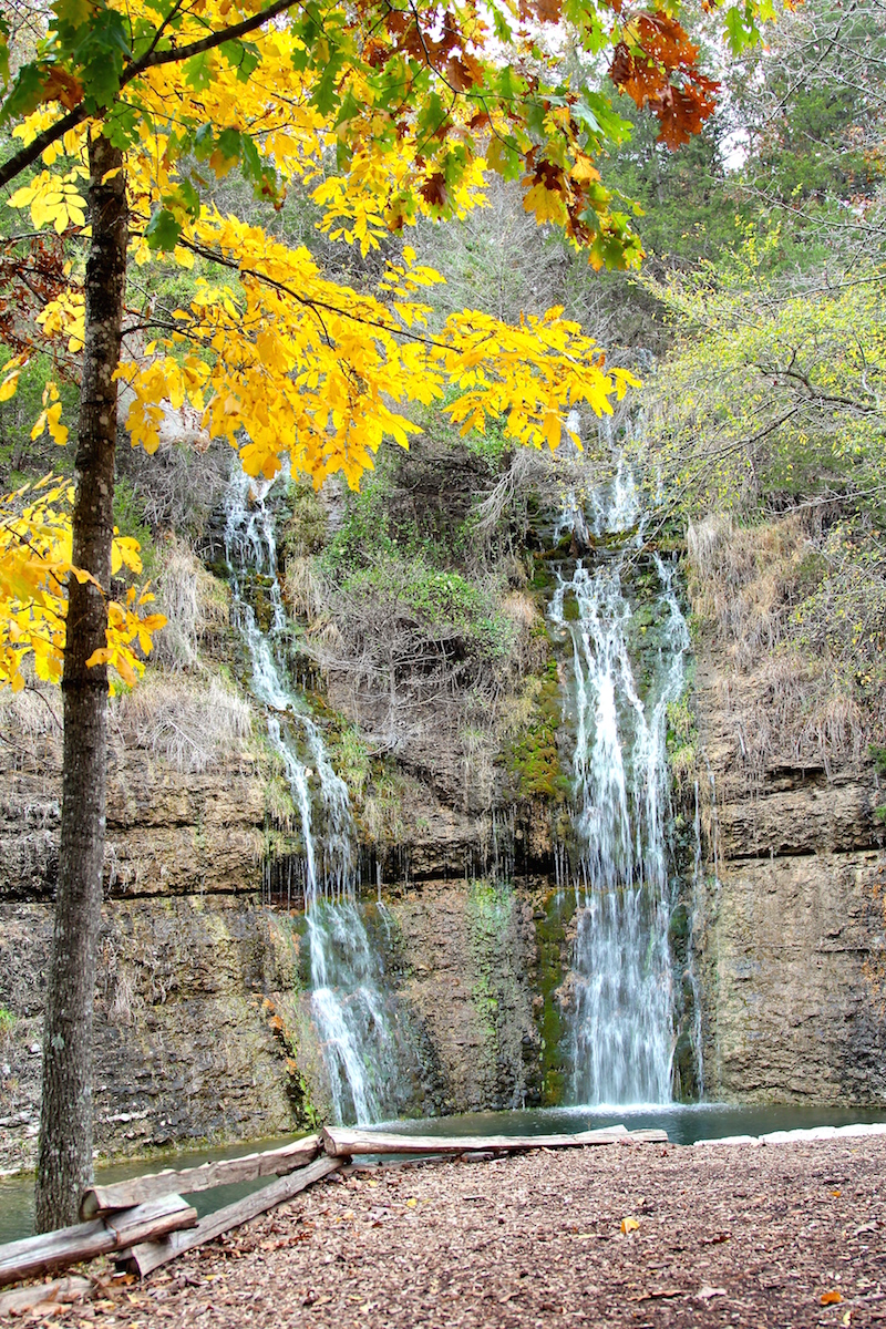 Wish Bowl Falls Waterfall in the Ozark Mountains