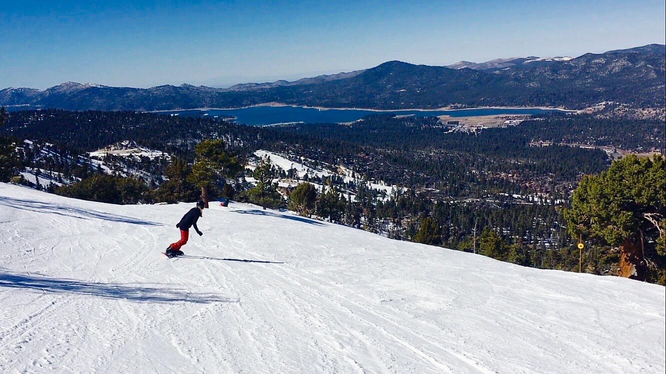 Snowboarding Bear Mountain, California