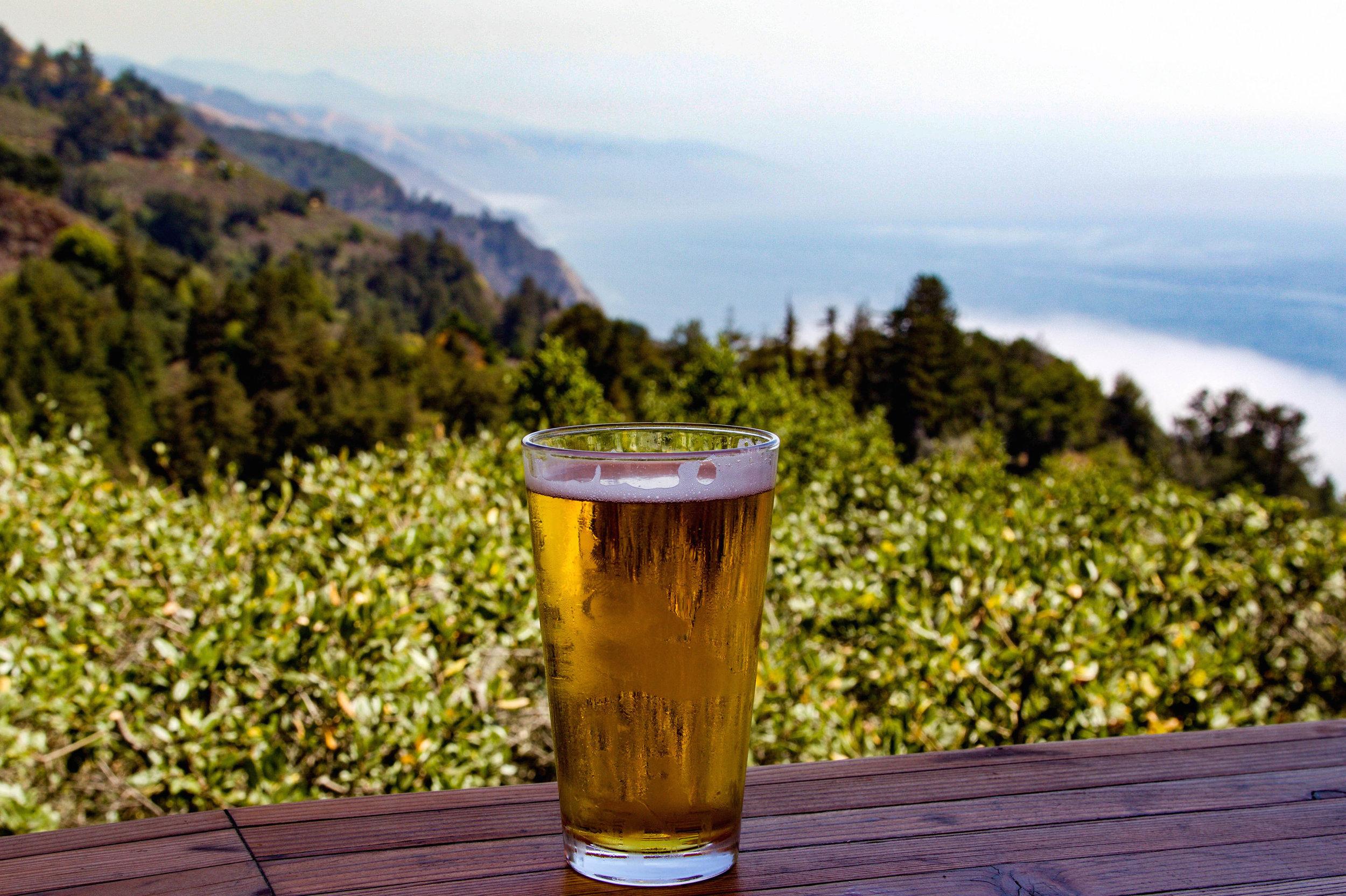 Nepenthe overlook in Big Sur