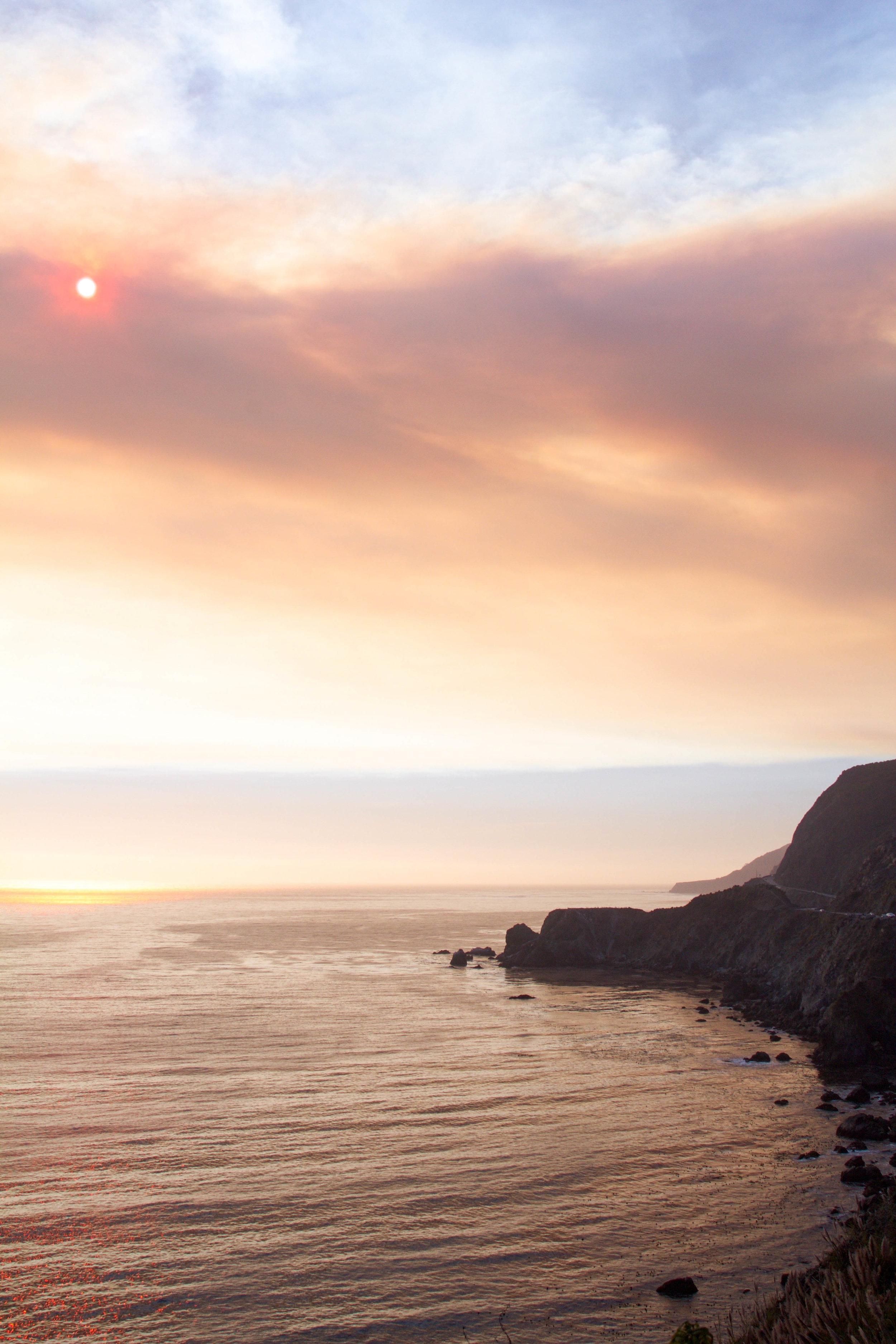 Big Sur coastline at sunset