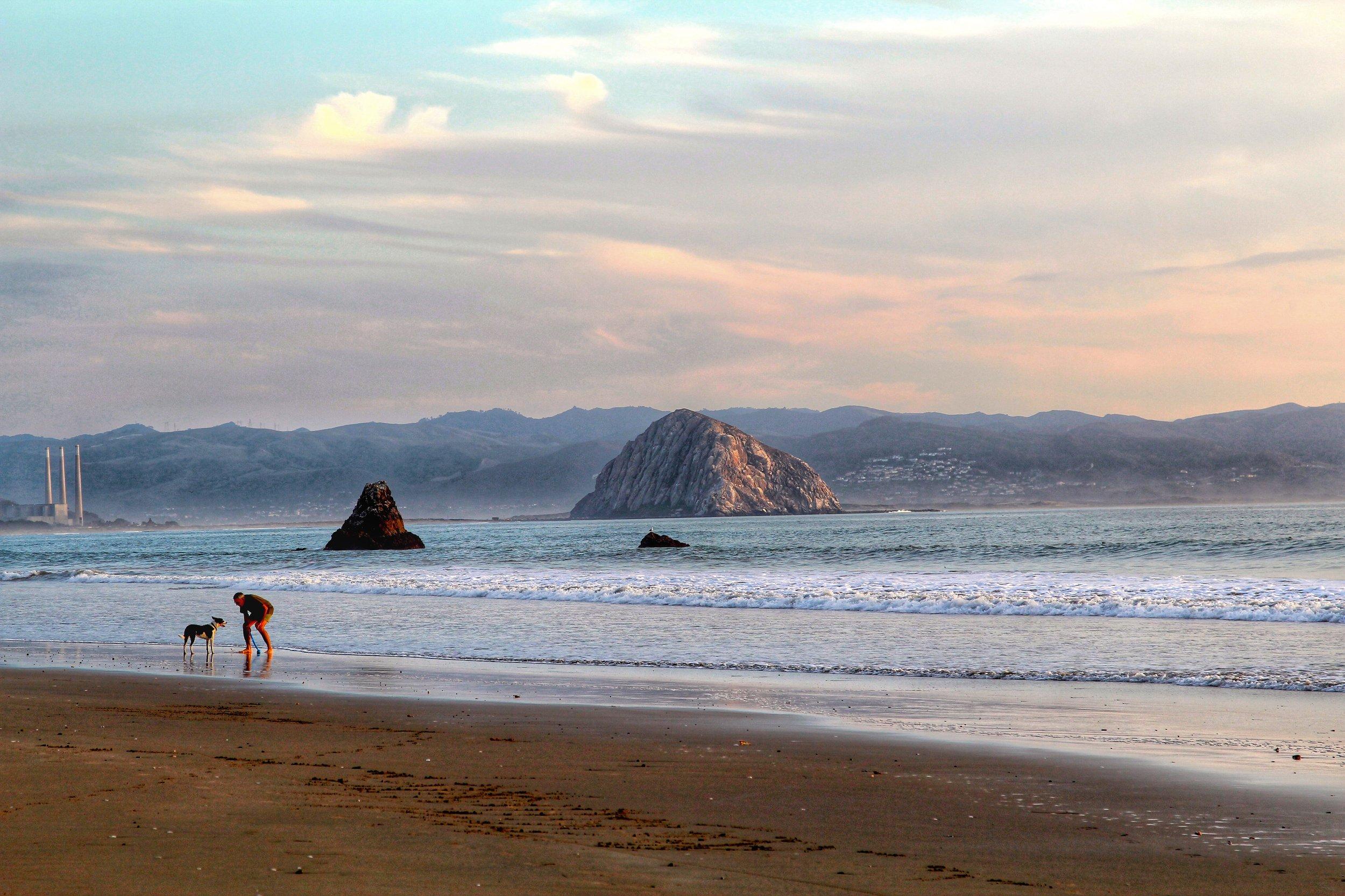 Morro Bay Beach in California