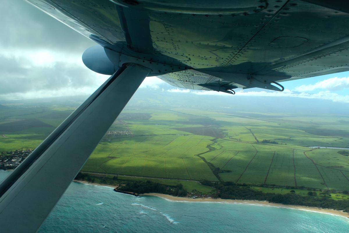 flying over maui