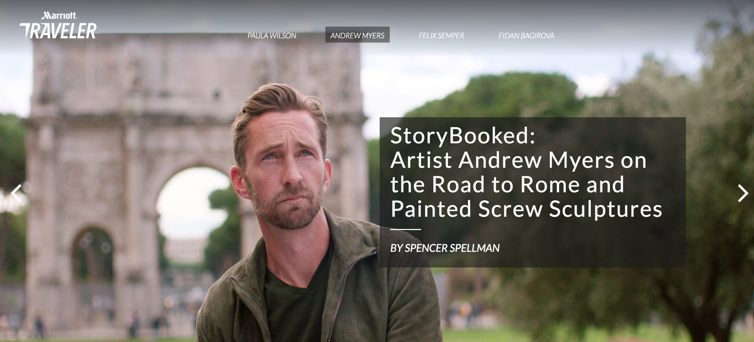 Marriott Traveler: StoryBooked with Artist Andrew Myers