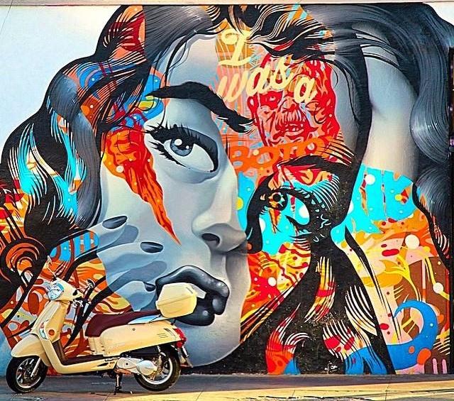 Arts District mural by Tristan Eaton