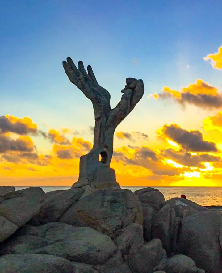 Puerto Escondido at sunset